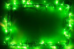 Green lights frame Royalty Free Stock Images