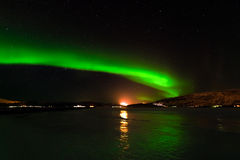 Green Lights of Norway Stock Photos
