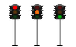 green lights red traffic yellow Στοκ Εικόνες