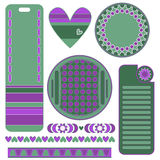 Green and lilac graphics set Royalty Free Stock Photos