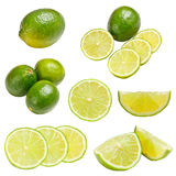 Green lime. Isolated on white background stock photo