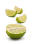 Green lime. Green appetizer lime isolated on white royalty free stock photography