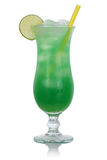 Green lime cocktail drink isolated Royalty Free Stock Photography