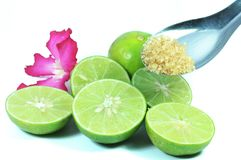 Green lime cooking Royalty Free Stock Photos