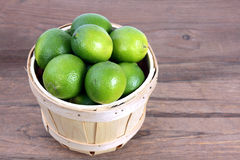 Green lime. Fresh green lime display at market place stock photo