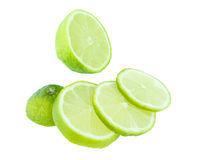Green lime fruit Royalty Free Stock Photo