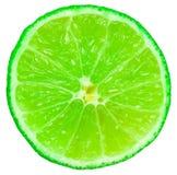 Green Lime Fruit Slice. Closeup On White Background royalty free stock photo