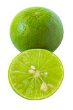 Green lime isolated on white background Stock Images