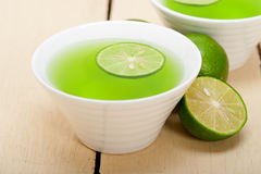 Green lime lemonade Royalty Free Stock Images
