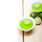 Green lime lemonade Royalty Free Stock Photography