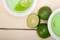 Green lime lemonade Royalty Free Stock Photo