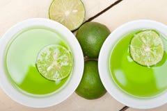 Green lime lemonade Stock Photos