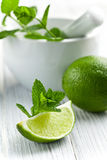 Green lime with mint Royalty Free Stock Image