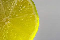 Green lime. Slice on a white background Stock Images