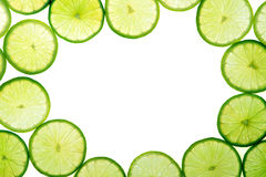 Green lime slices background Stock Photography