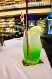 Green lime Soda water Stock Photos