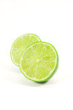 Green lime. Isolated on white background Stock Photos