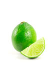 Green lime. Isolated on white background royalty free stock image