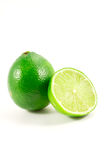 Green lime. Isolated on white background Royalty Free Stock Photo