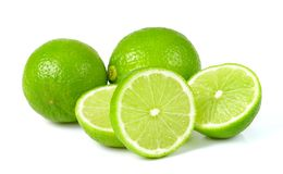 Green lime  on white background Stock Images