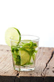 Green lime and wood Royalty Free Stock Photo
