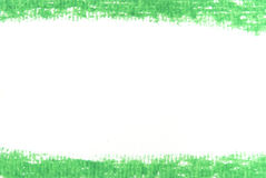 Green line for background from oil pastels Stock Image