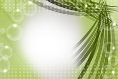 green line with bubble right side, abstract background Stock Photos