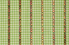 Green line cloth fabric. Royalty Free Stock Photo