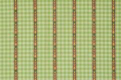 Green line cloth fabric. Royalty Free Stock Photo