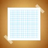 Green Line graph paper Royalty Free Stock Images