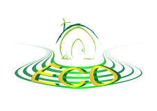 Green line green house eco Royalty Free Stock Image