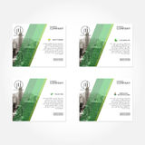 Green Line Profesional Business Header For Template Or Presentation Stock Photography