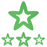 Green line star logo design set. Green line star logo icon design set Stock Photography
