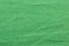 Green linen cloth background Royalty Free Stock Photos