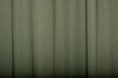 Green Linen Curtain Stock Photo
