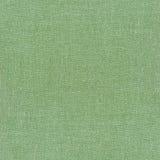 Green linen napkin Stock Images