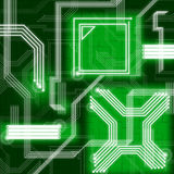Green Lines Background Means Data Pathway And Connections Royalty Free Stock Photos