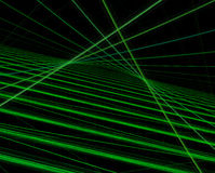 Green lines on black background Stock Photo