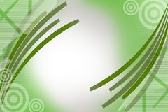 Green lines on corners, abstract background Royalty Free Stock Images