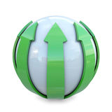Green lines on sphere Royalty Free Stock Images