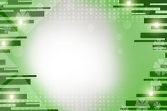 green lines and stars, abstract background Stock Photo