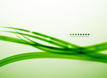 Green lines vector abstract background template Royalty Free Stock Photos