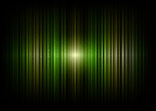 Green lines. Green vertical lines in the dark space Royalty Free Stock Photos