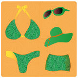 Green lingerie Stock Photography