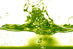Green liquid. /fluid abstract background Royalty Free Stock Photos