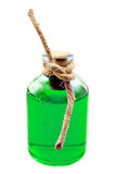 Green liquid in the bottle Royalty Free Stock Photo