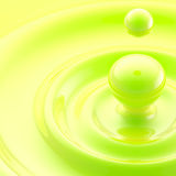 Green liquid drop abstract background Royalty Free Stock Images