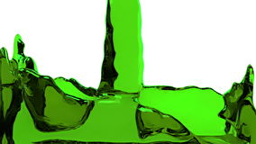 Green liquid fills up screen, with alpha channel FULL HD stock video