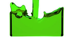 Green liquid fills up screen, with alpha channel FULL HD stock footage