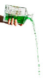 Green liquid Royalty Free Stock Photography